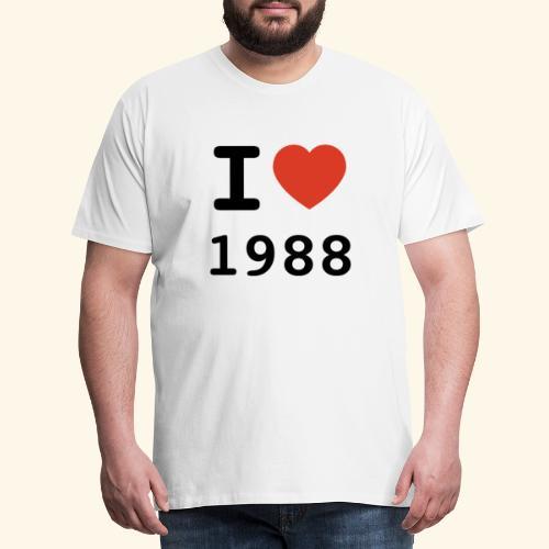 I Love 88 b 001 - Männer Premium T-Shirt