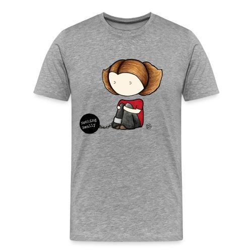 NothingReallyRundLogga png - Men's Premium T-Shirt