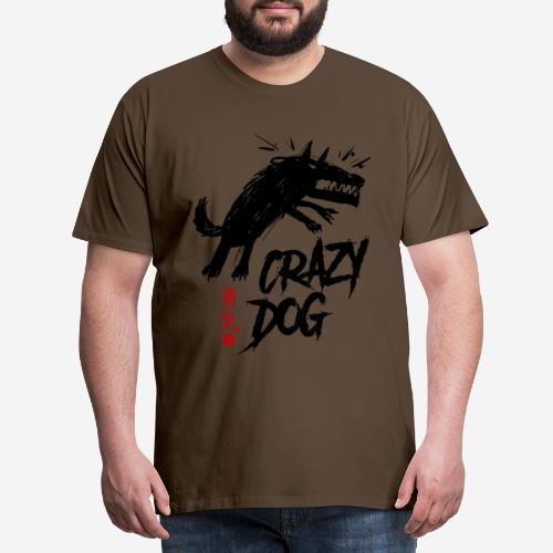 verrückter verrückter Hund - Männer Premium T-Shirt