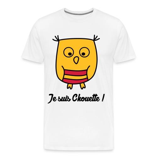 Hibou Chouette enfant naissance bébé animal - T-shirt Premium Homme