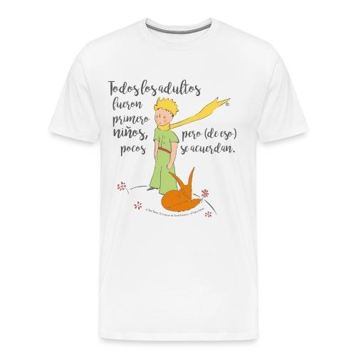 ES Der kleine Prinz Fuchs zähmen Spruch - Männer Premium T-Shirt