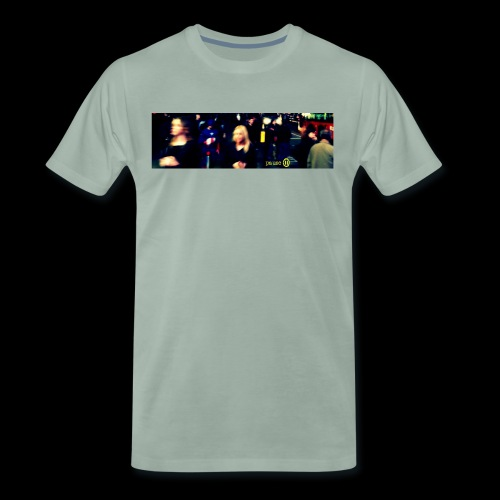 Captain America in Leicester Square - Men's Premium T-Shirt