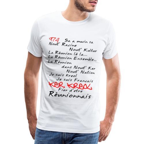 Kosement kreol - 974 La Réunion - T-shirt Premium Homme