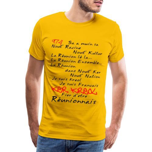 Kosement kreol - 974 Ker Kreol - Réunionnais - T-shirt Premium Homme