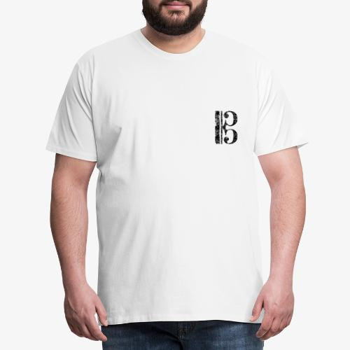 Altschlüssel, Bratschenschlüssel, Tenorschlüssel - Männer Premium T-Shirt
