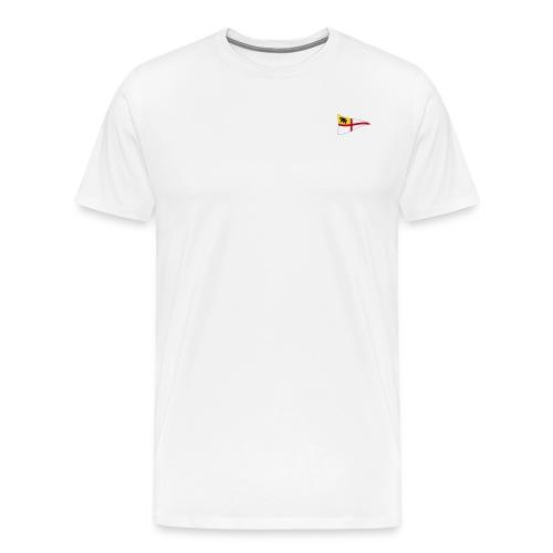 ROYC Logo 4 Farb Weiss SIMPLE - Männer Premium T-Shirt