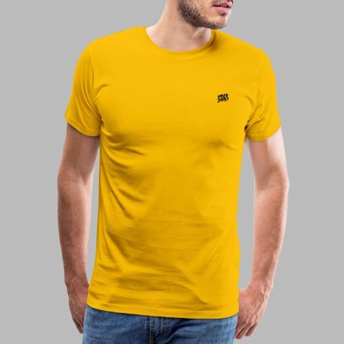 Texture noir marbre - T-shirt Premium Homme