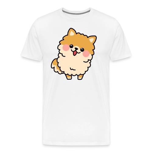 Perrito Pomerania Claro - Camiseta premium hombre