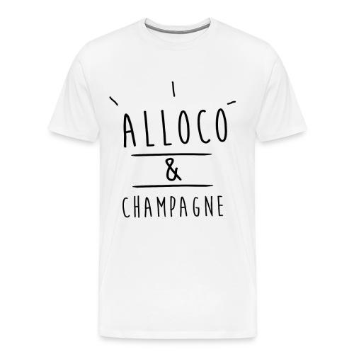 alloco et champagne noir png - T-shirt Premium Homme