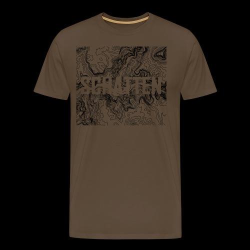 Hoehenlinien schwarz Schatten - Männer Premium T-Shirt