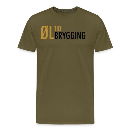 ØLTID ølbrygging svart2 - Premium T-skjorte for menn