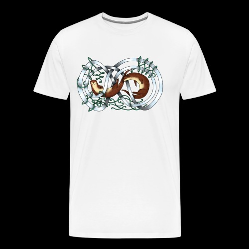 Otters entwined - Men's Premium T-Shirt