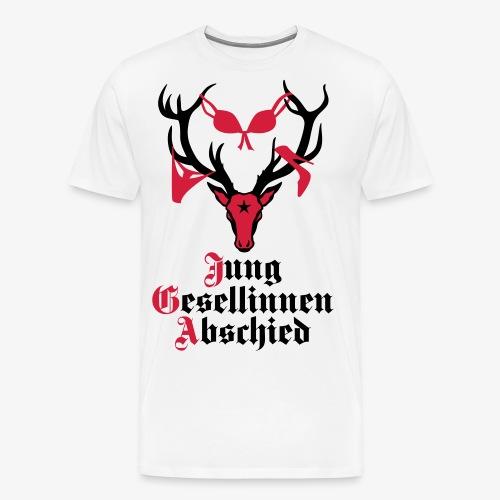 166 Hirsch Junggesellinnenabschied JGA Frauen - Männer Premium T-Shirt