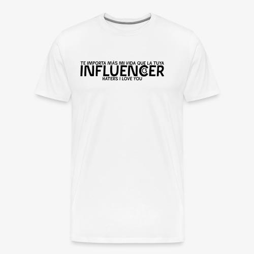 INFLUENCER (Black) - Camiseta premium hombre