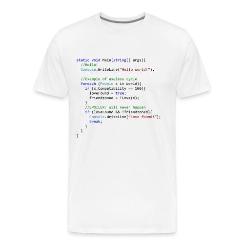 Love seen by a C# programmer - Maglietta Premium da uomo