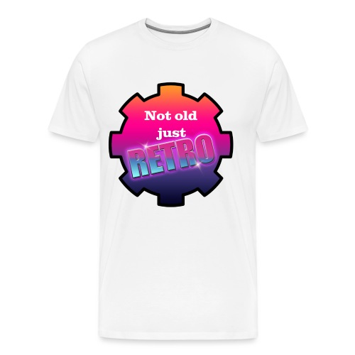 not old just retro - Men's Premium T-Shirt