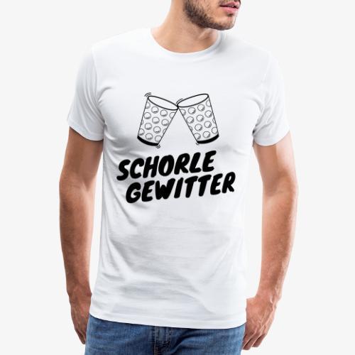 Schorlegewitter - Dubbeglas - Weinschorle - Pfalz - Männer Premium T-Shirt