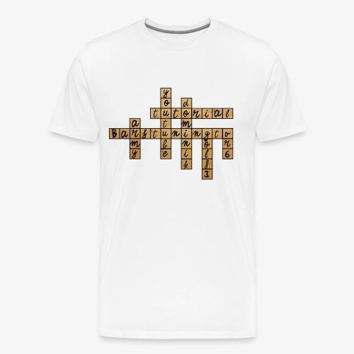 BARSTUNINGTV KREUZWORT - Männer Premium T-Shirt