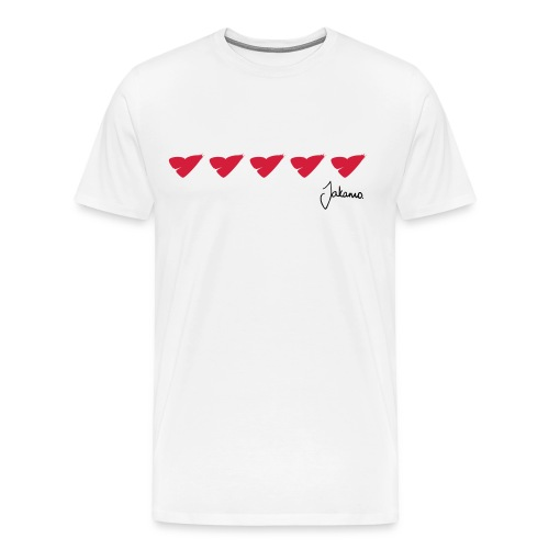 5 heart - Men's Premium T-Shirt