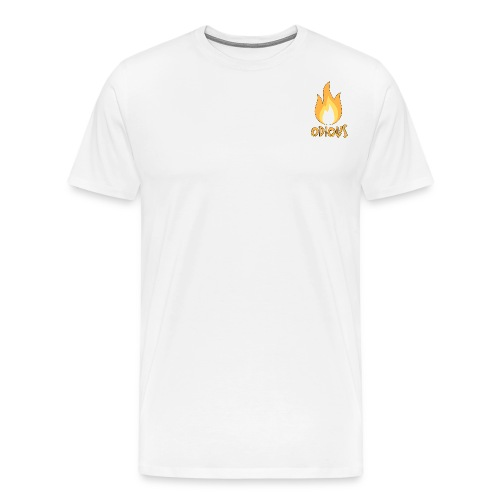 odious flame outlined - Mannen Premium T-shirt