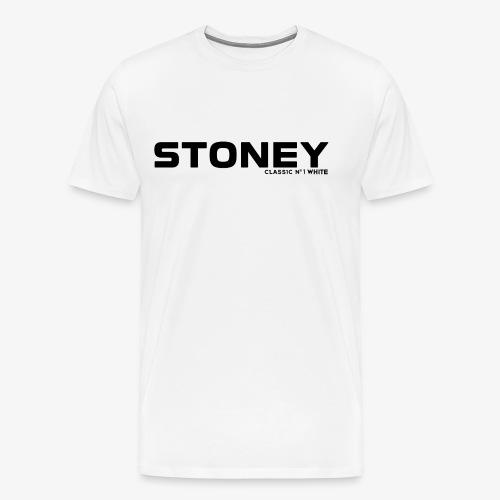 STONEY Classic No.1 WHITE - Männer Premium T-Shirt