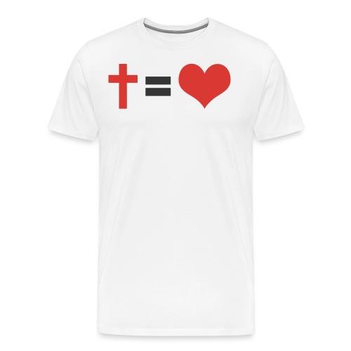 CROIX = LOVE - T-shirt Premium Homme