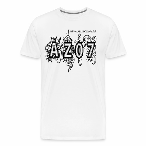 azlogoblack - Männer Premium T-Shirt