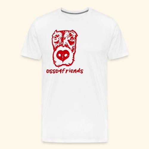 Logo ROSSO TRASPARENTE creative - Maglietta Premium da uomo