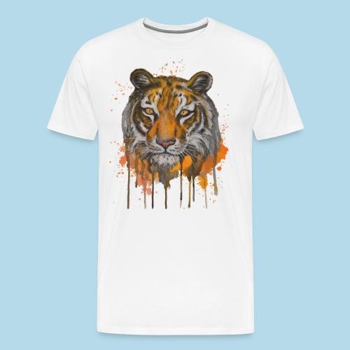 Tiger - Eye Of The Tiger - Geschenkidee - Männer Premium T-Shirt