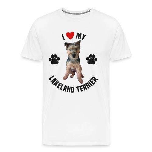 I heart my lakeland terri - Men's Premium T-Shirt
