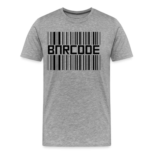 BARCODE WHITE - Men's Premium T-Shirt