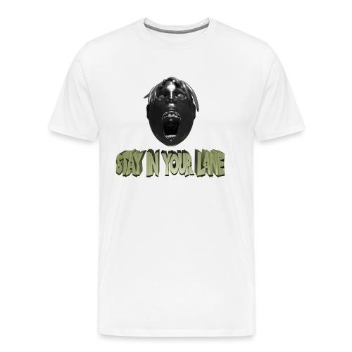 Stay in your line Design mit Kopf - Männer Premium T-Shirt