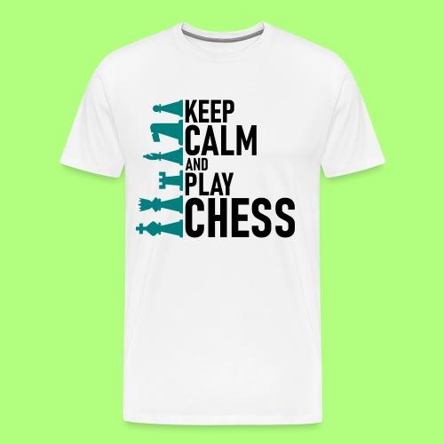 Spiel shirt Schule chess school - Männer Premium T-Shirt