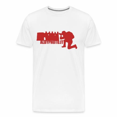 Logo Albyphoto Red - Maglietta Premium da uomo