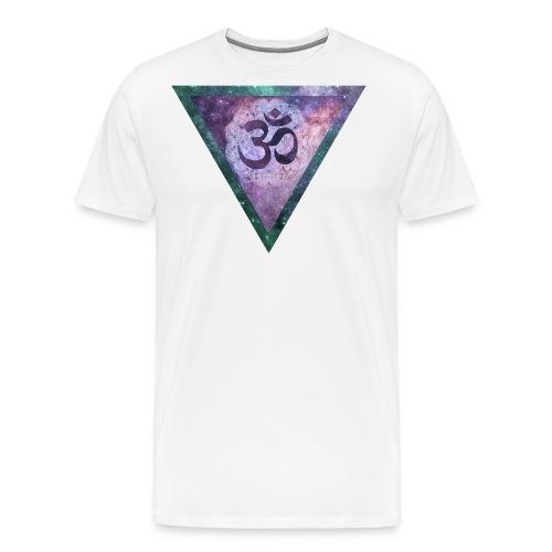 Galaxy Aum Triangle - Men's Premium T-Shirt