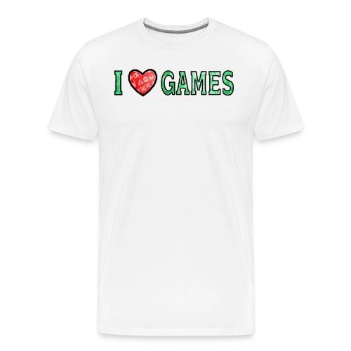 I Love Games - Koszulka męska Premium