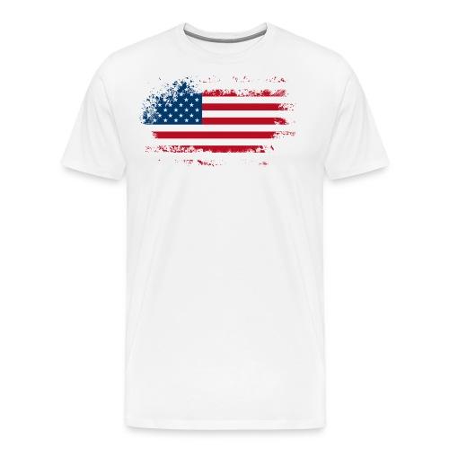 American Flag - Camiseta premium hombre