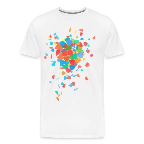 Guitar Pick Explosion - Men's Premium T-Shirt