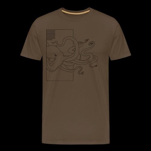 Tintenfisch-Logo Schwarz - Männer Premium T-Shirt
