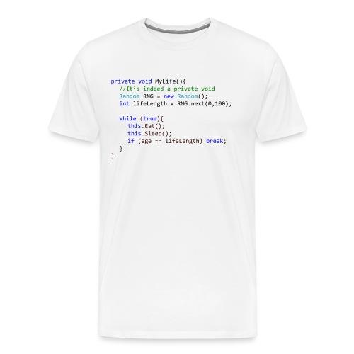My Life C# - Maglietta Premium da uomo