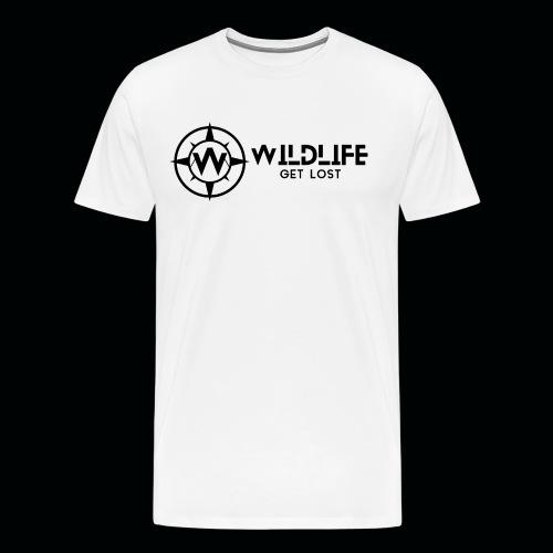 LOGO E SCRITTA WILDLIFE - Maglietta Premium da uomo