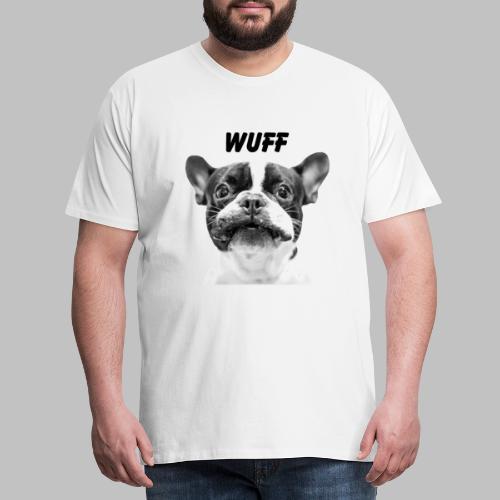 Wuff - Hundeblick - Hundemotiv Hundekopf - Männer Premium T-Shirt