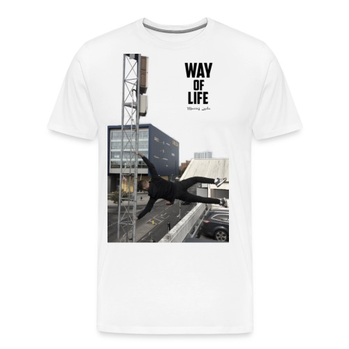large image edit png with text 2 - Men's Premium T-Shirt