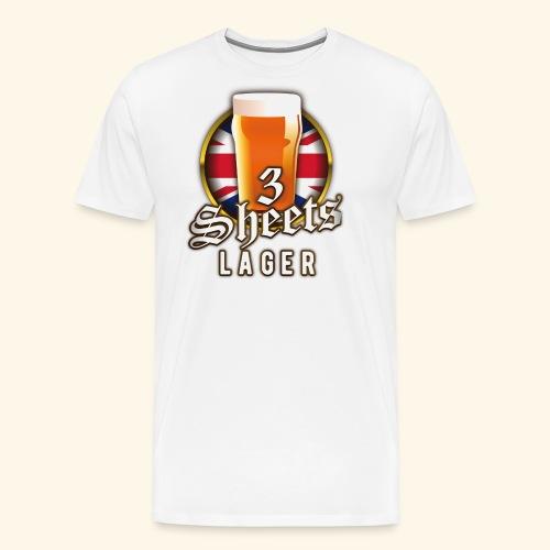 Beer Shirt Design 3 Sheets Lager - Männer Premium T-Shirt
