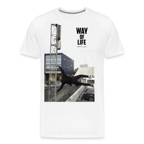 large image edit png with text 2 - Men's Premium T-Shirt