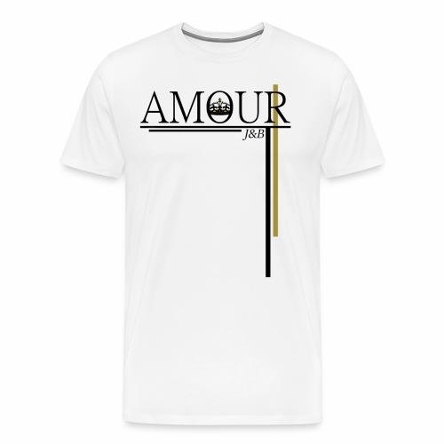 Amour Lines Logo Black - Men's Premium T-Shirt