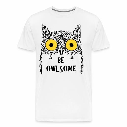 Buho gracioso - Camiseta premium hombre