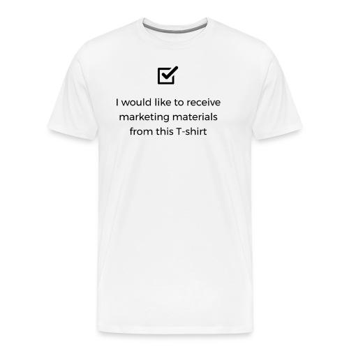 Marketing materials from this T-shirt - Men's Premium T-Shirt