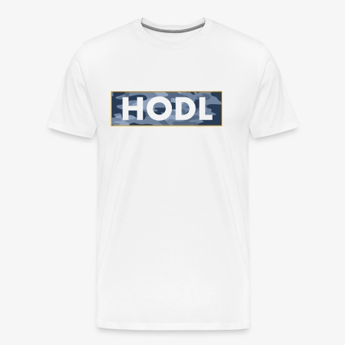 Camo Hodl Tee - Men's Premium T-Shirt