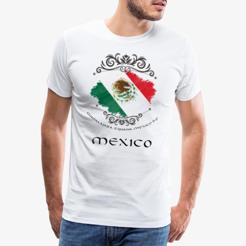 Mexico Vintage Bandera - Männer Premium T-Shirt